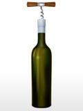 Бутылка вина и штопора Стоковая Фотография