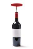 Бутылка вина и штопор Стоковые Изображения
