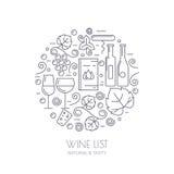 Бутылка вина, стекло, виноградная лоза, значки лист Backg еды и питья бесплатная иллюстрация