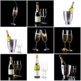 Бутылка и стекла Шампани стоковое фото