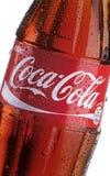 Бутылка кока-колы - деталь Стоковая Фотография RF