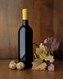 Бутылка комплекта красного вина Стоковая Фотография RF