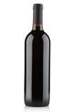 Бутылка красного вина на белизне, путь клиппирования Стоковые Фотографии RF