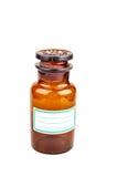 Бутылка медицины при пустой ярлык изолированный на белой предпосылке Стоковая Фотография RF