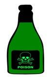Бутылка отравы бесплатная иллюстрация