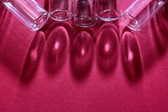 Бутылка отражения стеклянная Стоковое Изображение RF