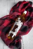 Бутылка оливкового масла на белой предпосылке Стоковые Фото