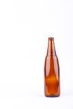 Бутылка пива Брайна стеклянная для партии напитка пива на белом изолированном питье предпосылки Стоковые Фото