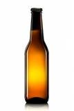 Бутылка пива или сидра изолированных на белой предпосылке Стоковые Фотографии RF
