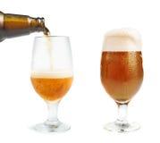 Бутылка пива и кружки пива Стоковые Фото