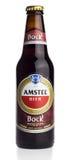 Бутылка пива крепкого темного пива Amstel голландца Стоковое Изображение RF