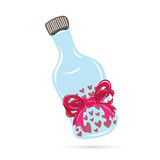 Бутылка пилюльки влюбленности Стоковое Изображение RF