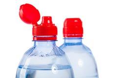 2 верхней части бутылок с водой Стоковое фото RF