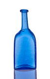 Бутылка синего стекла handmade Стоковое Изображение RF