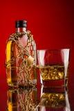 Бутылка стекла и вискиа Стоковое фото RF