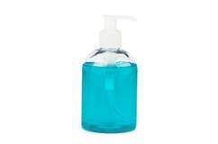 Бутылка с мылом бирюзы жидкостным Стоковое Фото