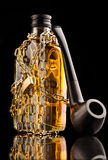 Бутылка трубы и вискиа Стоковые Фото