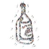 бутылка формы людей Стоковые Изображения