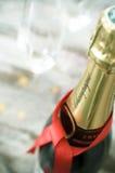Бутылка Шампани Стоковое Изображение