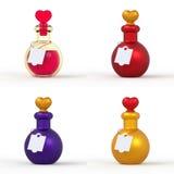 Бутылка 3D зелья влюбленности установила 1 Стоковые Изображения RF