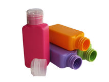Бутылки Ð olored ¡ пластичные Стоковое фото RF