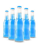 Бутылки безалкогольного напитка изолированные на белизне Стоковое Изображение