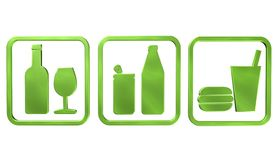 Бутылки вектора пить иллюстрация штока