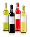 Бутылки вина с ассортиментом ярлыков Стоковые Фотографии RF