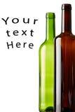 Бутылки вина с вашим текстом здесь Стоковая Фотография RF