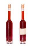 2 бутылки вина с пустым ярлыком Стоковые Фото