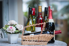 Бутылки вина Стоковое Фото