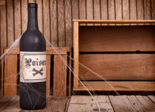 Бутылки зелья на деревянных клетях Стоковые Изображения RF