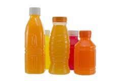 бутылки изолировали белизну сока Стоковые Фотографии RF