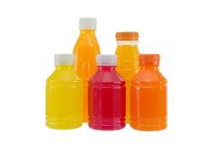 бутылки изолировали белизну сока Стоковые Изображения