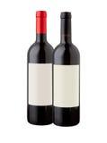 бутылки изолировали белое вино Стоковое Изображение