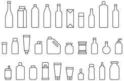 Бутылки и контейнеры Стоковые Изображения