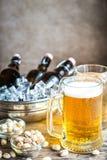 Бутылки и кружки пива Стоковое фото RF