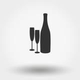 Бутылки и стекла бесплатная иллюстрация