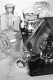 Бутылки и стекла Стоковое Изображение