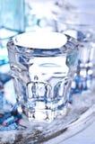 Бутылки и стекла Стоковые Фотографии RF