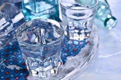 Бутылки и стекла Стоковое фото RF