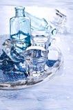 Бутылки и стекла Стоковые Изображения RF