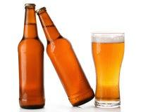 Бутылки и стекло пива Стоковое Изображение