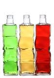 Бутылки коктеилей Мартини на белизне Стоковые Изображения RF