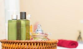 Бутылки масла и ароматности для курорта Стоковое Изображение