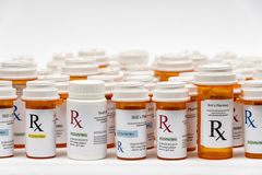 Бутылки медицины Rx Стоковая Фотография