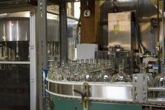 Бутылки на линии в запасах Woodford Стоковое фото RF