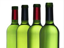 бутылки опорожняют вино Стоковая Фотография RF
