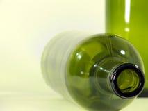 бутылки опорожняют вино Стоковая Фотография