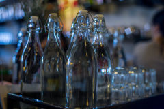 бутылки опорожняют стекло Стоковые Фото